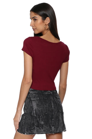 Jac Parker Short Sleeve Ribbed Crop Top