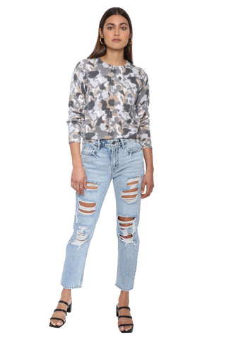 Decker Luxe Watercolor High Neck Sweater
