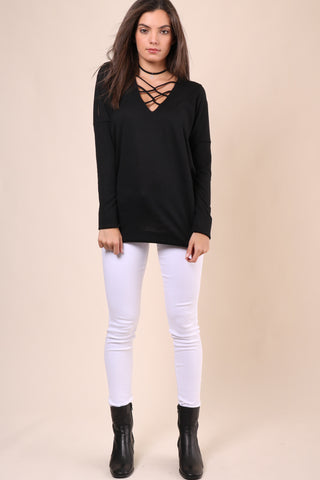Jet X Mixology Twisted V Neck Sweater
