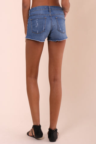 Flying Monkey Frayed Denim Shorts