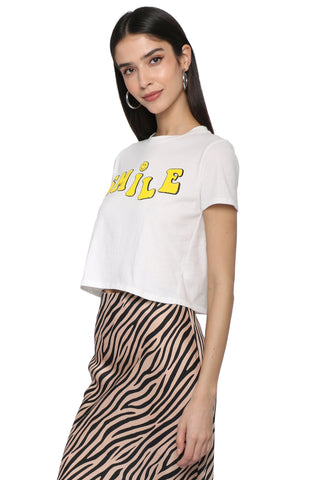 Sunday Stevens Smile Crop Tee