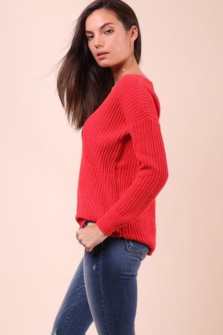 BB Dakota Chenille Boyfriend Sweater