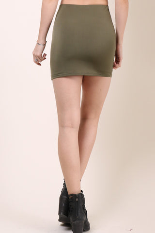 Gab & Kate Leo Mini Skirt - Olive