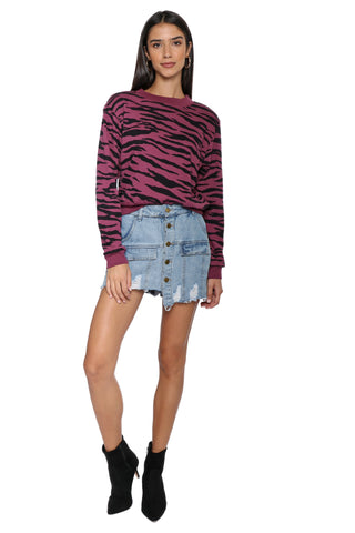Strut This Georgie Sweatshirt- Zebra