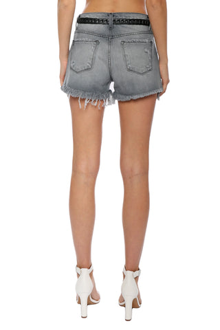 Flying Monkey H/R Raw Hem Denim Shorts