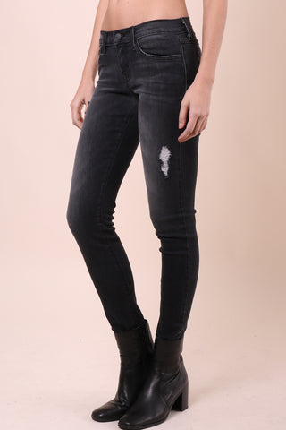 Flying Monkey Raw Hem Skinny Jeans