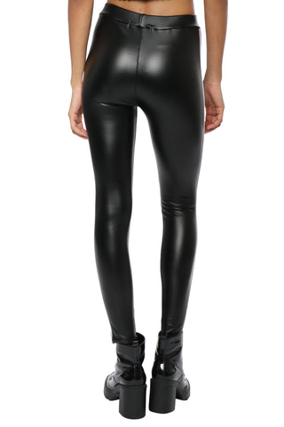 Jordyn Jagger Side Stripe Faux Leather Pant