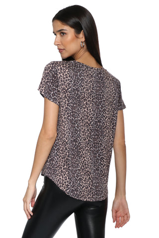 Brooklyn Karma Leopard Pocket Tee