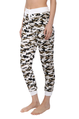 Suzette Brushed Hacci Camo Jogger