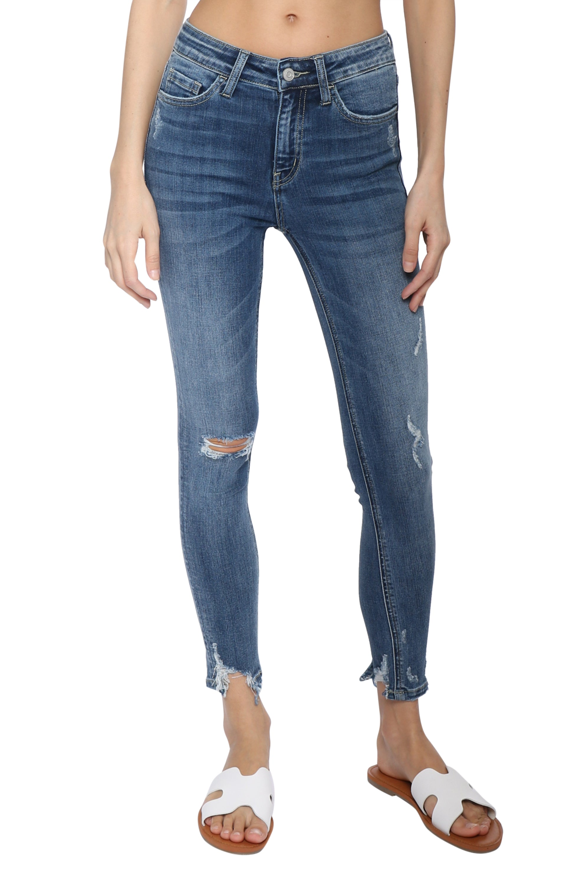 965b7720b75 Flying Monkey High Rise Crop Skinny Jeans