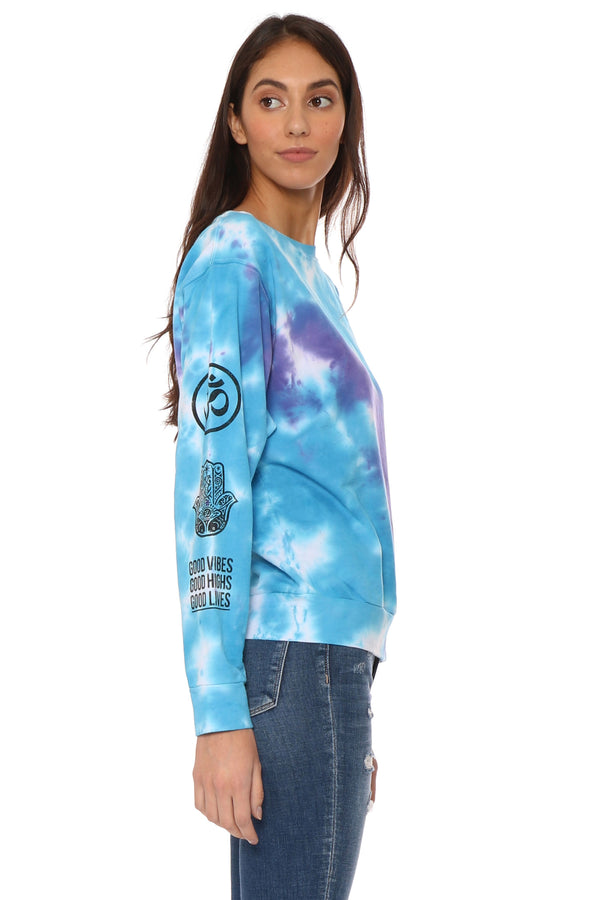 Good Vibes Tie Dye Pullover