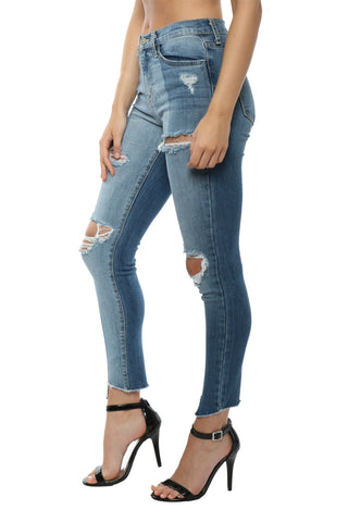Flying Monkey Two Tone Cropped Skinny Jean