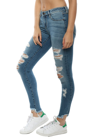 Hidden Distressed Skinny Jean