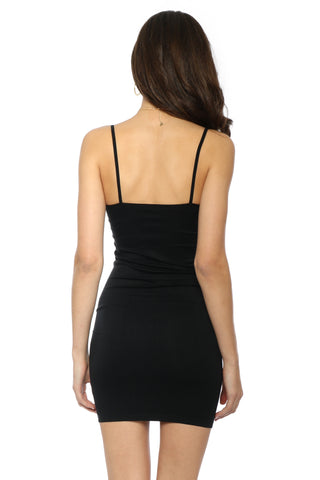 Mixology Black Slip Dress