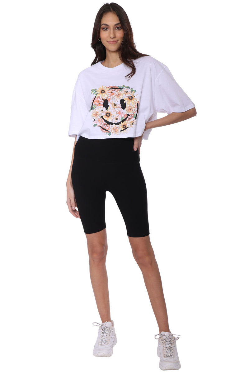 Smiley Cropped Tee