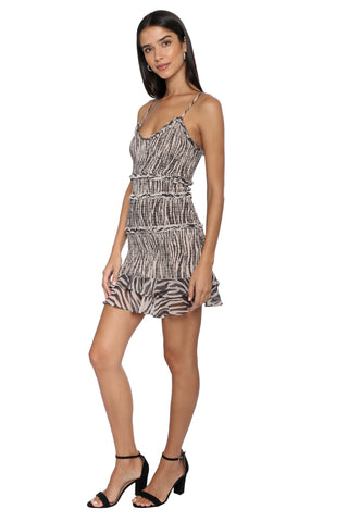 W.A.P.G. Zebra Mini Dress