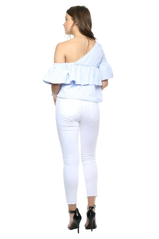 Lost in Lunar Asteria One Shoulder Top