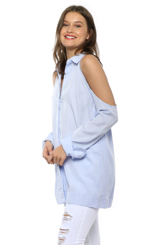Lost In Lunar Shelby Cold Shoulder Top