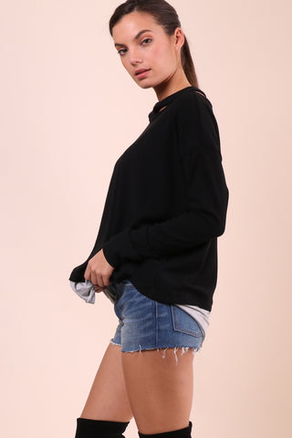 Jet X Mixology Rib Collar Sweater