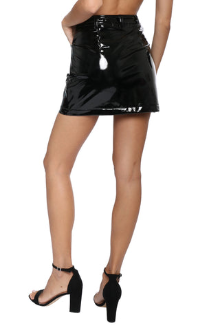 Jordyn Jagger Vinyl Mini Skirt