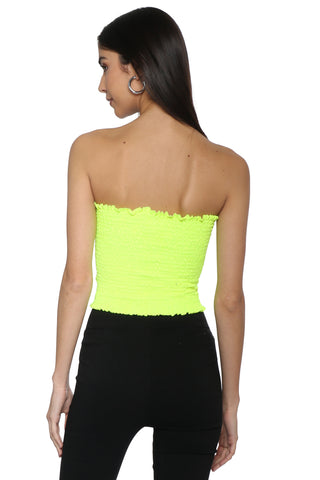 Gab & Kate Neon Smocked Tube Top