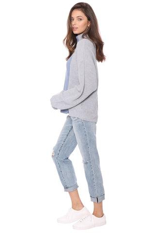 Fox + Hawk Blue Colorblock Sweater