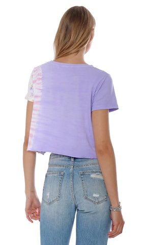 Brooklyn Karma Horizontal Tie Dye Distressed Tee