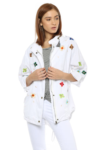 Gab & Kate Flower Embroidered Jacket