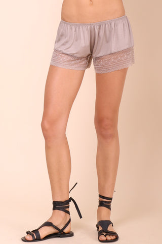 Gab & Kate Laced In Love Shorts - Khaki