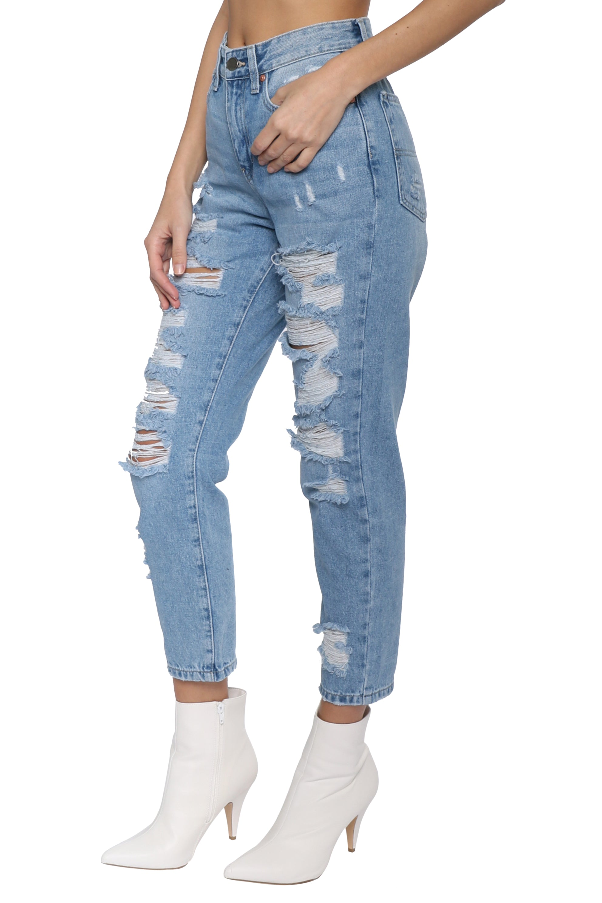 e936b083df1 Just Black Super Destroyed GF Jean