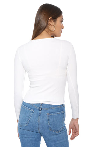 Malibu Beach Long Sleeve Boat Neck Top