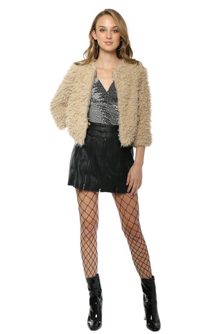 BB Dakota Macy Faux Fur Jacket