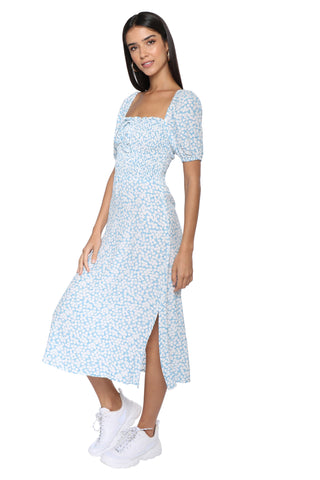 Faithfull Majorelle Midi Dress-Bella