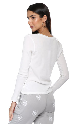 Jac Parker Waffle Long Sleeve Top