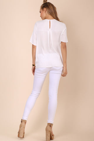 Decker Quogue Top- White