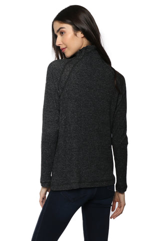 Jac Parker Aspen Ribbed Mock Neck Sweater