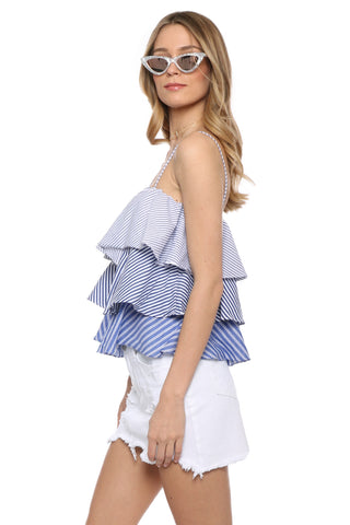 Decker Striped Tier Layered Top