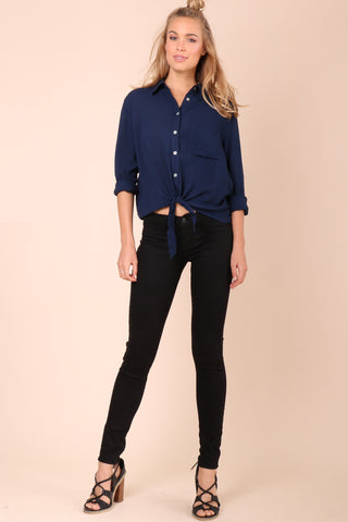 Decker Set Sail Blouse- Navy