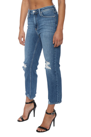 Just Black High Rise Straight With Hem Detail Jeans