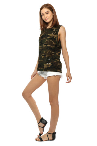 Brooklyn Karma Camo Muscle Tee