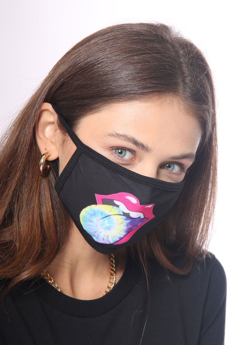 Nu Vintage Tie Dye Tongue Face Mask