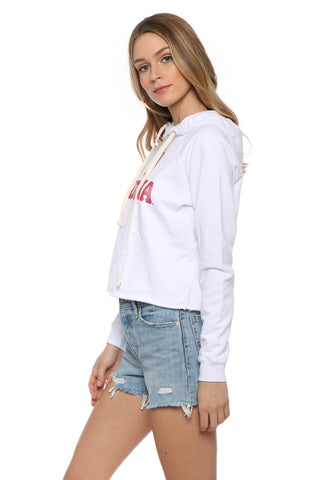Retro Brand Indiana Cropped Hoodie