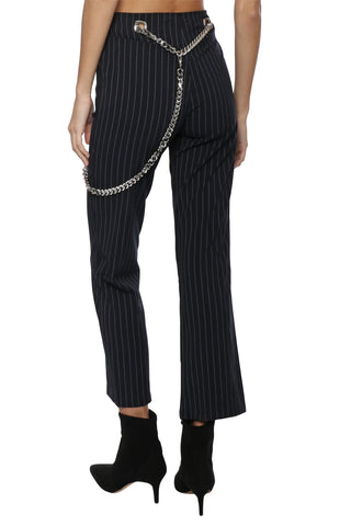 Robertson & Rodeo Pin Stripe Pant With Chain