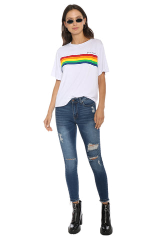 Jonathan Saint Good Times Rainbow Tee