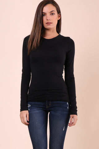 Malibu Beach Basics LS Tee - Black