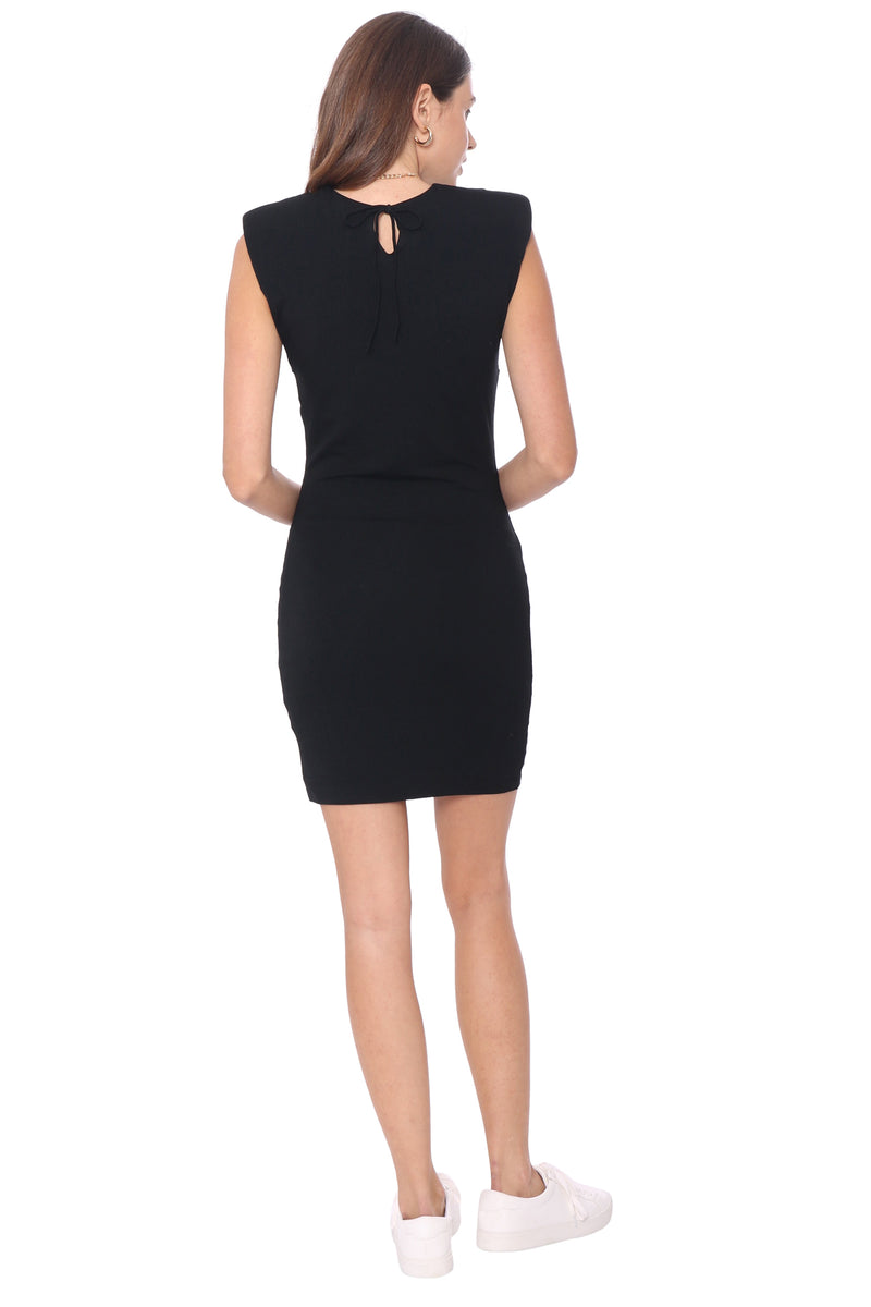 Brooklyn Karma Wild Card Padded Shoulder Dress
