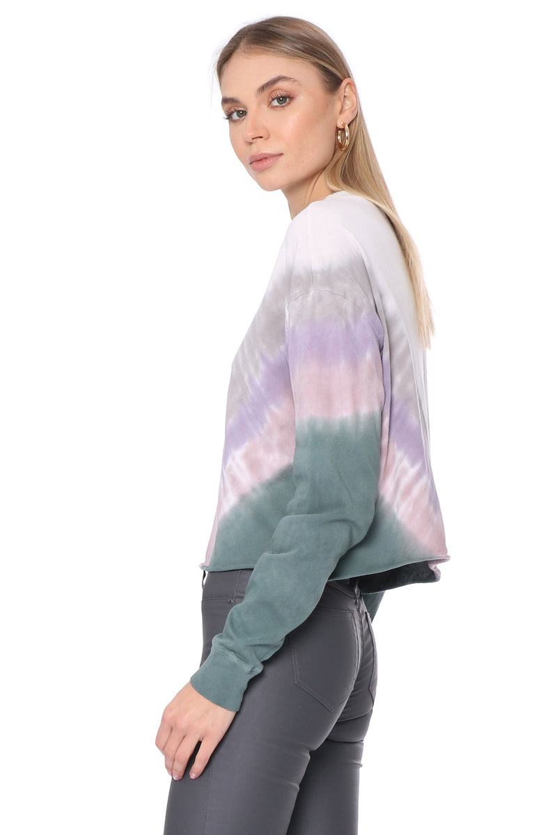 Dusty Rose Tie Dye Long Sleeve