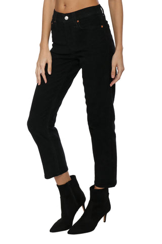 Levi's Wedgie Straight Black Corduroy