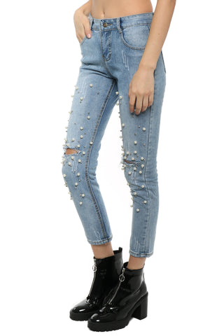 Gab & Kate Distressed Pearl Jeans