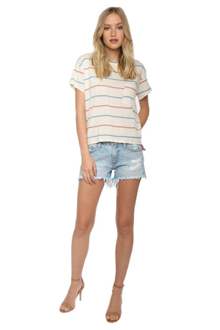 Sunday Stevens Stripe Pocket Tee